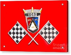Ford Emblem Acrylic Print by Jerry Fornarotto