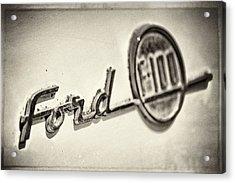 Ford F-100 Acrylic Print by Caitlyn  Grasso