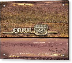 Ford F-100 Acrylic Print by Thomas Young