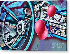 Ford Fairlane 500 Dashboard- Warhol-esque Acrylic Print