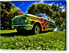Ford Falcon Station Wagon Acrylic Print by motography aka Phil Clark