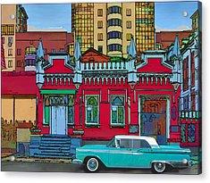 Ford Galaxy-town-victoria 1959 Acrylic Print by Vladimir Kholostykh