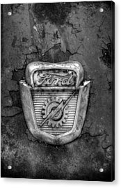 Ford Gear And Lightning In Black And White Acrylic Print