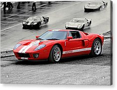Ford Gt And Gt40 1966 Le Mans Win Acrylic Print