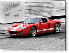 Ford Gt And Gt40 Memories Acrylic Print
