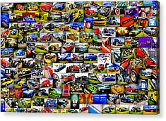 Ford Hot Rod Collage Acrylic Print by motography aka Phil Clark