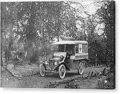 Ford Model T Ambulance Acrylic Print by Library Of Congress