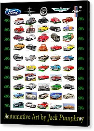 Four Decades Of Fords Poster Acrylic Print