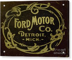Ford Motor Company Acrylic Print by David Millenheft