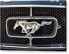 Ford Mustang Badge Acrylic Print by George Atsametakis