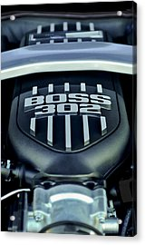 Ford Mustang Boss 302 Engine Acrylic Print by Jill Reger
