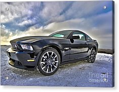 Acrylic Print featuring the photograph ford mustang car HDR by Paul Fearn