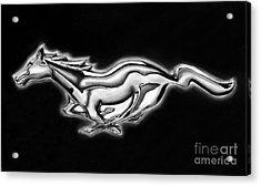 Ford Mustang Emblem Acrylic Print by Peter Piatt