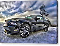 Ford Mustang - Featured In Vehicle Eenthusiast Group Acrylic Print by EricaMaxine  Price