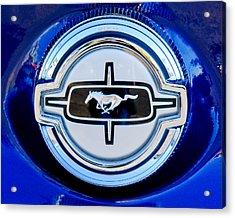 Ford Mustang Gas Cap Acrylic Print by Jill Reger