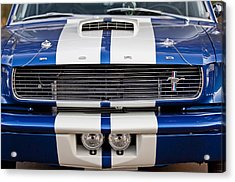 Ford Mustang Grille Emblem Acrylic Print by Jill Reger