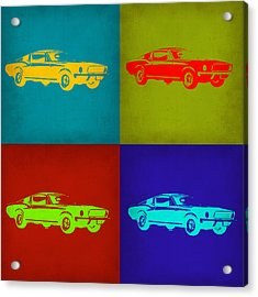 Ford Mustang Pop Art 1 Acrylic Print by Naxart Studio