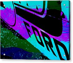 Ford Racing  Acrylic Print by Naxart Studio