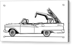 Retractable Ford Top Going Down Acrylic Print by Jack Pumphrey