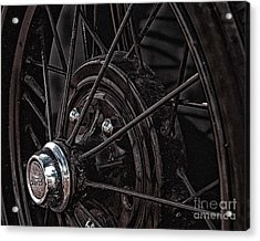 Acrylic Print featuring the photograph Ford Spoke Wheel by JRP Photography