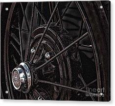 Ford Spoke Wheel Acrylic Print by JRP Photography