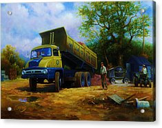 Ford Thames Trader Acrylic Print by Mike  Jeffries