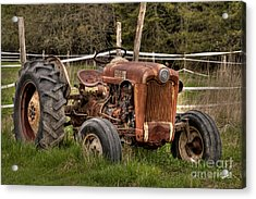 Ford Tractor Acrylic Print by Alana Ranney