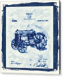 Ford Tractor Patent Acrylic Print