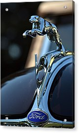 Acrylic Print featuring the photograph Ford V-8 Hood Ornemant by Dean Ferreira