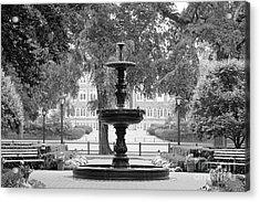 Fordham University Fountain Acrylic Print by University Icons