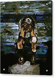 Forecast - Portrait Of A Sad Boy Acrylic Print