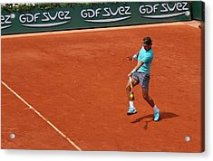 Rafael Nadal's Forehand Impact Acrylic Print