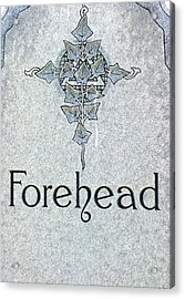 Acrylic Print featuring the photograph Forehead Headstone by Jeff Lowe