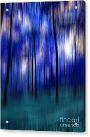 Forest Abstract 2 Acrylic Print by Angela Bruno