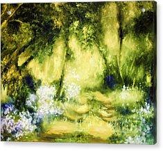 Forest Bluebells Acrylic Print