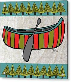 Forest-canoe Acrylic Print