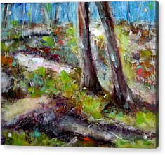Acrylic Print featuring the painting Forest Carpet by Katie Black