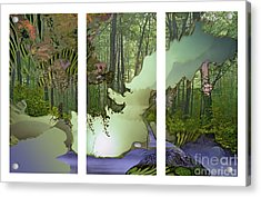 Forest Fog Acrylic Print by Ursula Freer