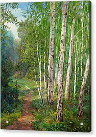 Russian Forest Footpath Acrylic Print