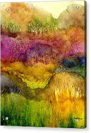 Forest Acrylic Print by Hailey E Herrera