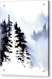 Forest Indigo Acrylic Print