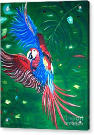 Acrylic Print featuring the painting Forest Landing by Phyllis Kaltenbach