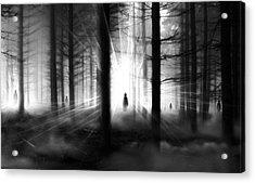 Acrylic Print featuring the photograph Forest... by Mariusz Zawadzki