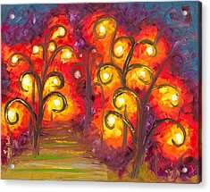 Forest Of Fire Orbs Acrylic Print by Jessilyn Park