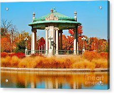 Acrylic Print featuring the photograph Forest Park Gazebo by Peggy Franz