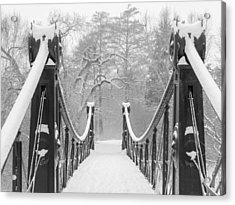 Forest Park Victorian Footbridge Acrylic Print by Scott Rackers