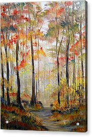 Forest Path Acrylic Print by Dorothy Maier