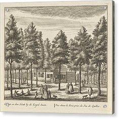 Forest Path Near Alkmaar, The Netherlands Acrylic Print