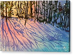 Forest Silhouettes Acrylic Print by Teresa Ascone