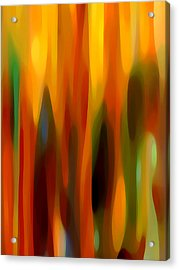 Forest Sunlight Vertical Acrylic Print